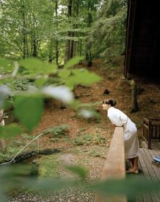 Die Waldsauna des Biohotel der daberer im Wald hinter dem Hotel (Dab-0657) | Foto: Biohotel der daberer/Hauke Dressler