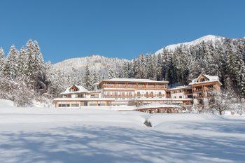 Winterliche Hotelansicht des Biohotel der daberer | Foto: der daberer. das biohotel/F. Neumüller
