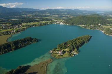 Inselhotel im Faaker See - mit dem Wasser-Taxi in eine ganz besondere Urlaubs-Welt chauffiert werden
