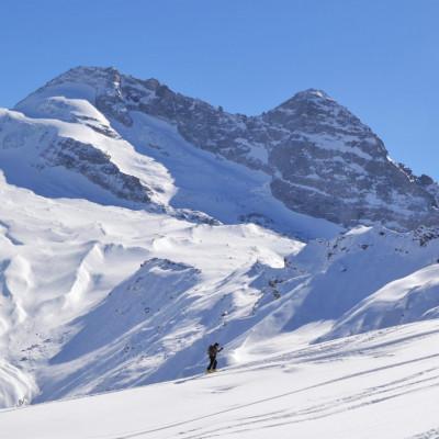 Skitourenparadies Wipptal - im Bild die Hohe Warte im Schmirntal