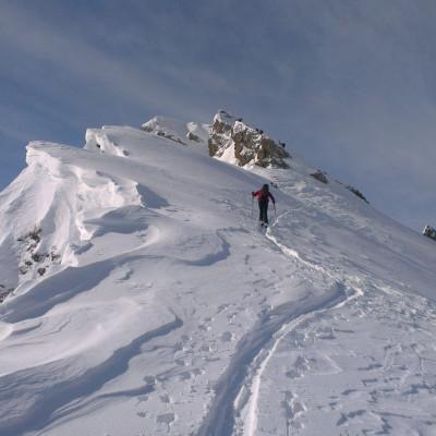 Aufstieg auf den Silleskogel im Valsertal
