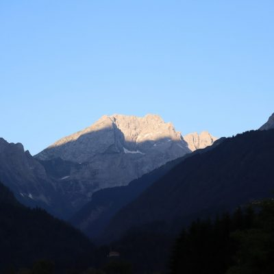 Blick vom Gailtal zum Eiskargletscher