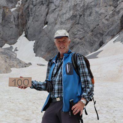 Gerhard Hohenwarter war am 8. Juli 2018 das hundertste Mal im Eiskar