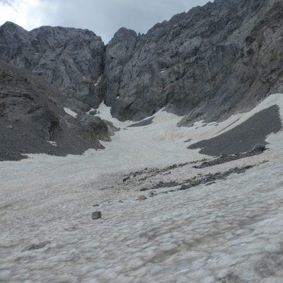 Ansicht des westlichen Teils des Eiskargletschers