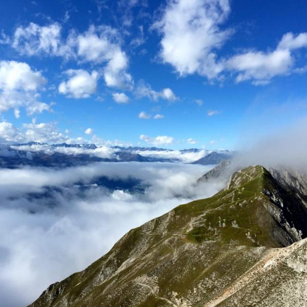 Hochalpiner Ausblick an Karwendel Höhenweg