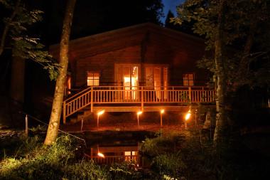 Die Waldsauna des Biohotel der daberer im Wald hinter dem Hotel (Dab-0637) | Foto: der daberer. das biohotel