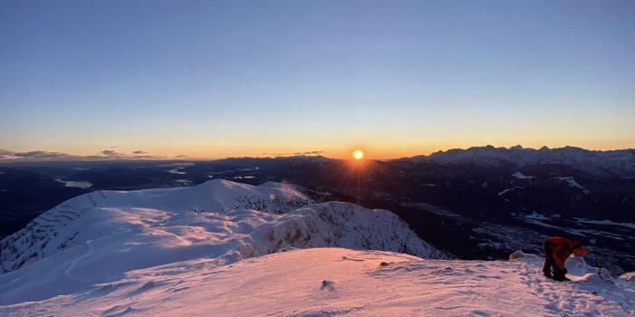Faszination Sonnenaufgang im Winter