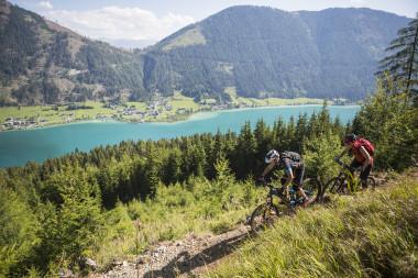 Bike-Genuss auf einem der Naturtrails am Weissensee (W02.20) | Foto: Bergbahnen Weissensee/Heiko Mandl
