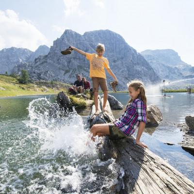 Der Aqua Trail ist eines der Familien-Bergerlebis-Highlights