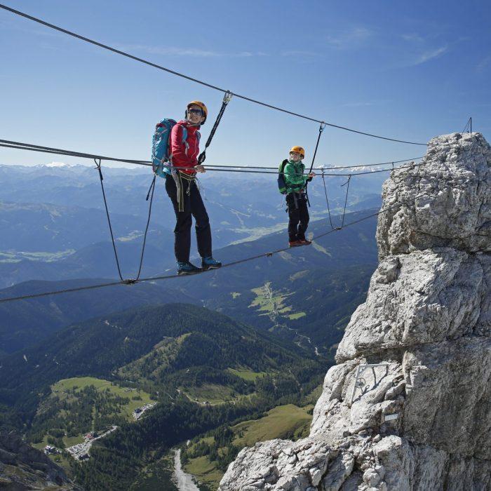 Klettersteig - klug und schrittweise steigern