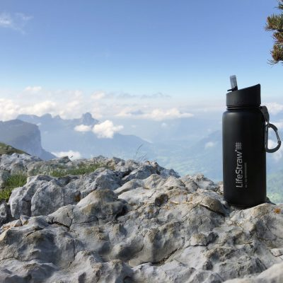 LifeStraw Go Stainless Steel - black - alps - clouds - Eugenia - Unlimited