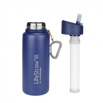 LifeStraw Go_stainless steel_blue_studio_filter outside